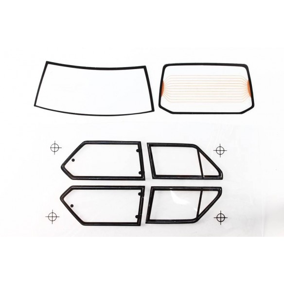 Set complet vitres Fiat Ritmo 125 TC