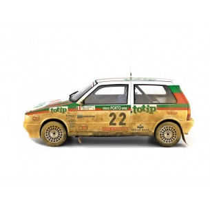 Fiat Uno Turbo i.e. 1:18 Rally Portugal 1986 n°22 G.Del Zoppo-L.Roggia LM101