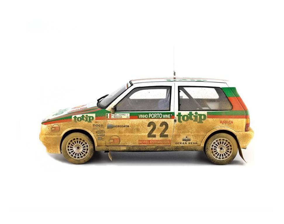 fiat uno turbo i e model car 1 18 rally portugal 1986 n 22 g del zoppo l roggia laudoracing. Black Bedroom Furniture Sets. Home Design Ideas