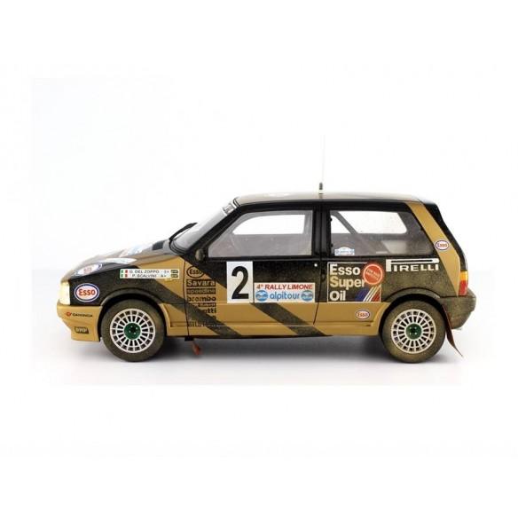 Fiat Uno Turbo IE Grifone Rally Limone N°2 G.Del Zoppo-P.Scalvini - 1987
