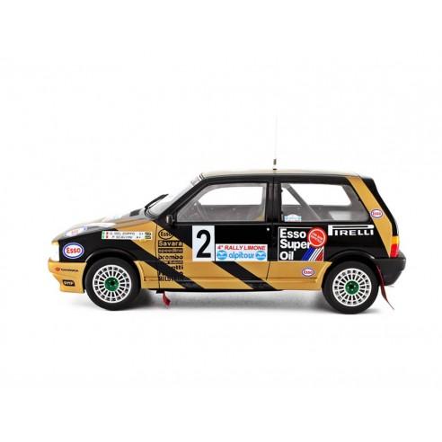 Fiat Uno Turbo i.e. 1/18 Grifone  Rally Limone 1987 N°2 G.Del Zoppo-P.Scalvini LM102