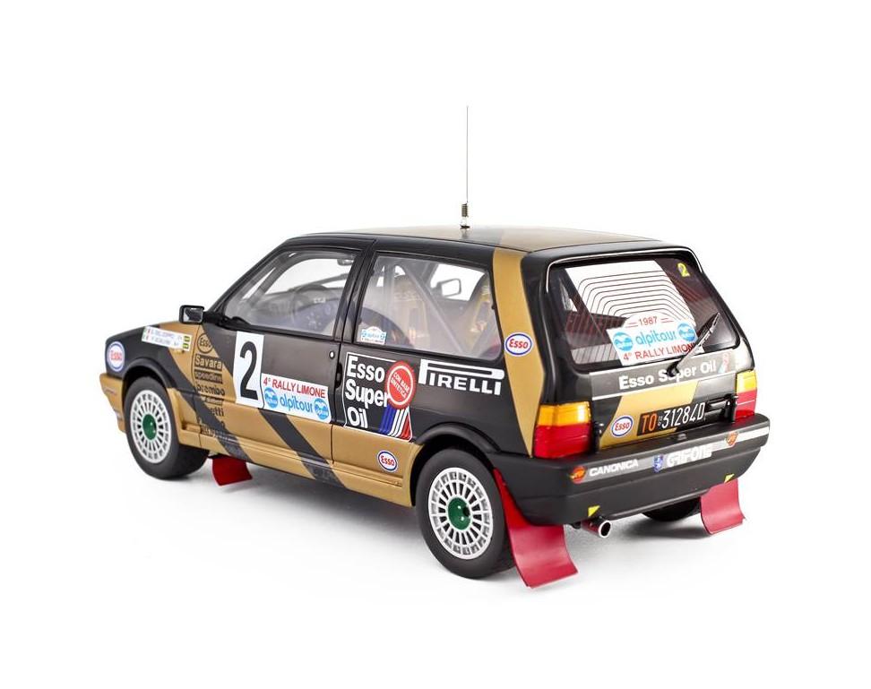 fiat uno turbo i e model car 1 18 grifone rally limone 1987 n 2 g del zoppo p scalvini lm102. Black Bedroom Furniture Sets. Home Design Ideas