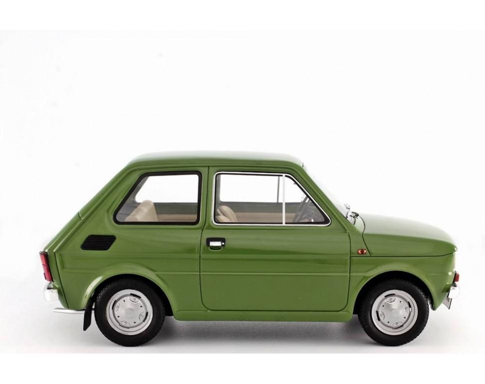 Polski Fiat 126 Prima Serie 1972 Model car 1:18 Laudoracing