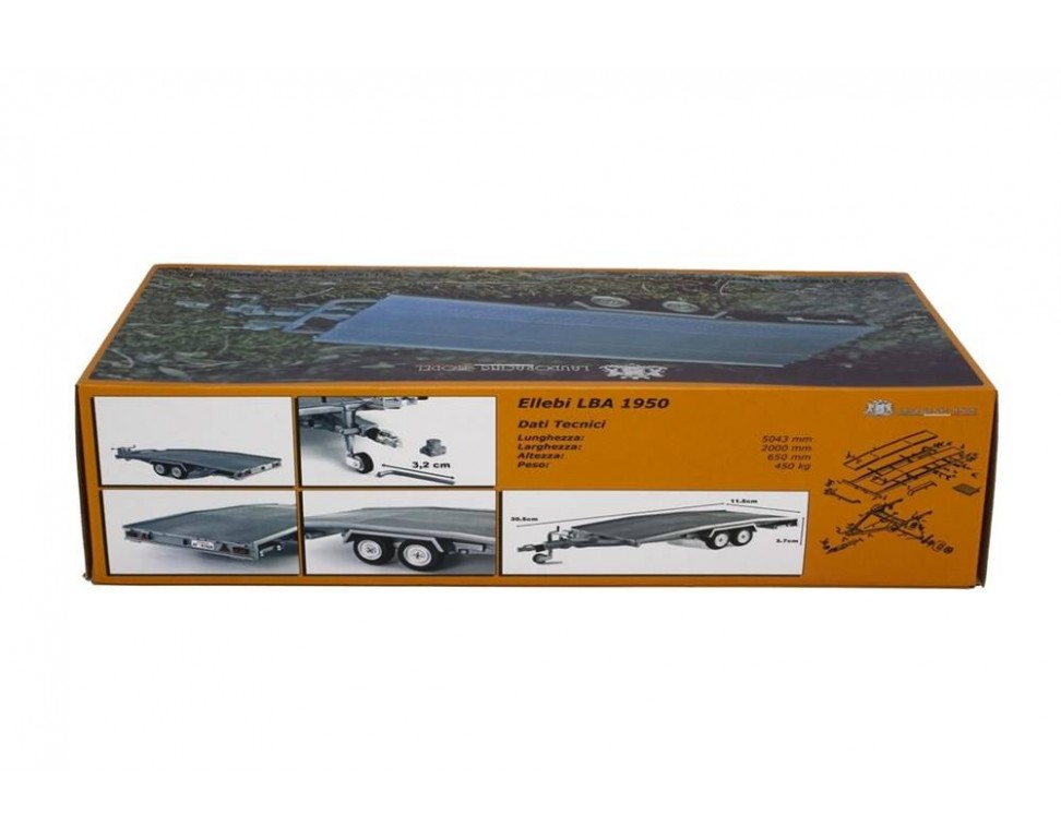 Trailer Car Transport Model Ellebi scale 1/18 Model car 1:18