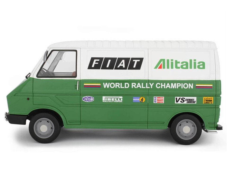 Fiat 242 1° serie Assistenza Lancia - 1977 Model car 1:18 Laudoracing